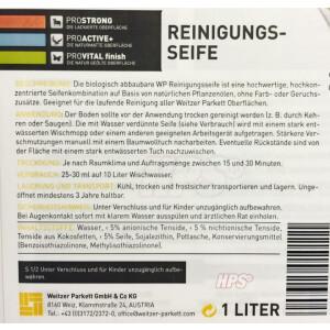 Weitzer Parkett Reinigungsseife - 1lt.