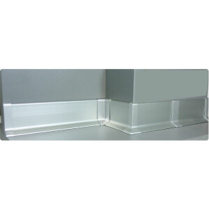 Aluminium Sockelleiste 40mm Bund 27lfm - Silber Eloxiert