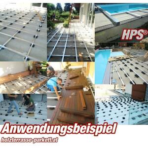 Gummipad zum Einrichten der Unterkonstruktion Ihrer Terrasse