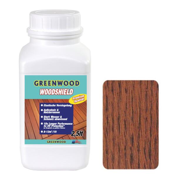 Woodshield - Cumaru Braun - Außenholz & Terrassen Versiegelung Elastisch 2,5lt