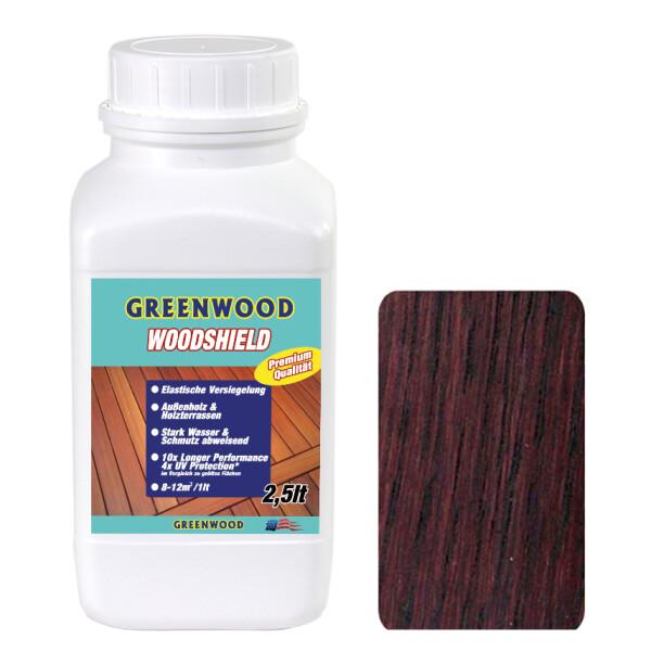 Woodshield - Nussbraun - Außenholz & Terrassen Versiegelung Elastisch 2,5lt