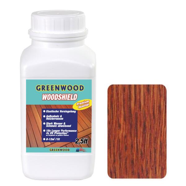 Woodshield - Cumaru Rot - Außenholz & Terrassen Versiegelung Elastisch 2,5lt