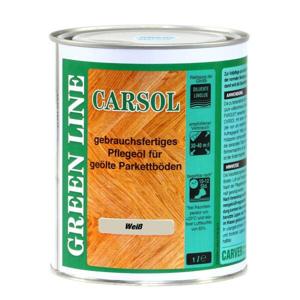 Carver Pflegeöl Carsol 1lt WEIß -Bianco - Pflegeöl für geöltes Parkett