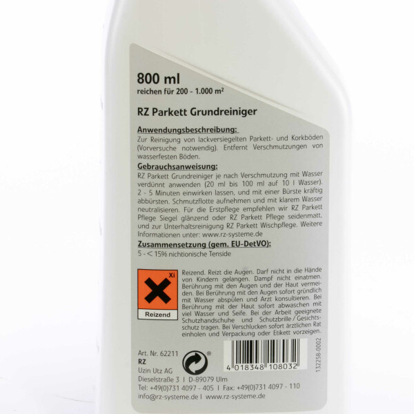 RZ Parkett Grundreiniger 800 ml