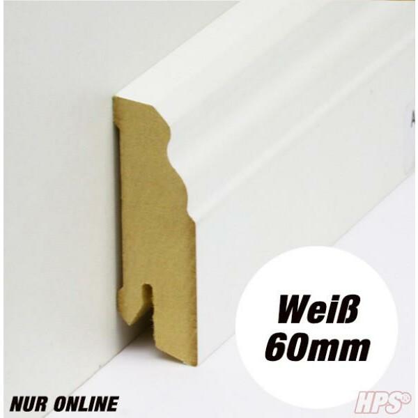 Sockelleiste weiss - Alt Wien 60mm - 15lfm