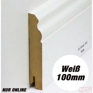 Sockelleiste weiss - Alt Wien 100mm - 15lfm