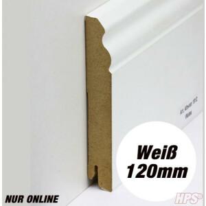 Sockelleiste weiss - Alt Wien 120mm - 15lfm