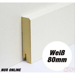 Sockelleiste weiss - Modern 80mm - 15lfm