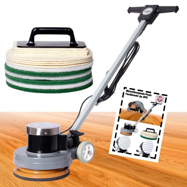 """Overmat Floorboy XL 300 """"Parkett Ölen/Nachölen-Set"""" - Poliermaschine inkl. Treibteller und umfangreichen Zubehör"""
