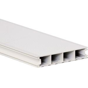 Aluminium Terrassendiele - Reinweiß - RAL 9010
