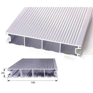 Aluminium Terrassendiele - Reinweiß - RAL 9010 /...