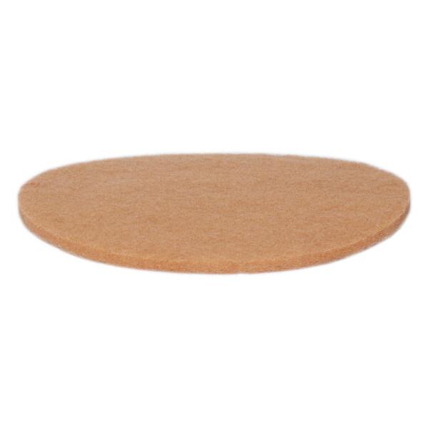 "Normalpad - Ø30cm 12"" - Beige - Maschinenpad"