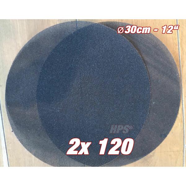 2Stück Schleifgitter K120 - Ø 30cm - Schleifgitter für Einscheibenmasc...