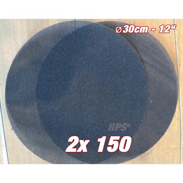 2Stück Schleifgitter K150 - Ø 30cm - Schleifgitter für Einscheibenmasc...
