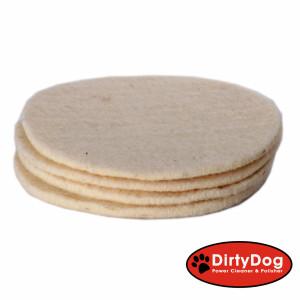 DirtyDog 4-Stück- Wollpads -Schafschurwolle -...