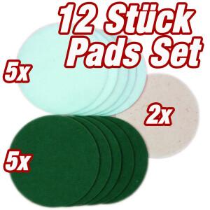 HPS® 12-Stück-Pad Set -5xGrüne,...
