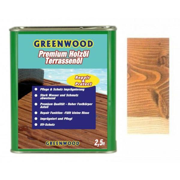 Holzöl Bangkirai  2,5lt. - Repair&Protect - Greenwood - Premium Holzöl